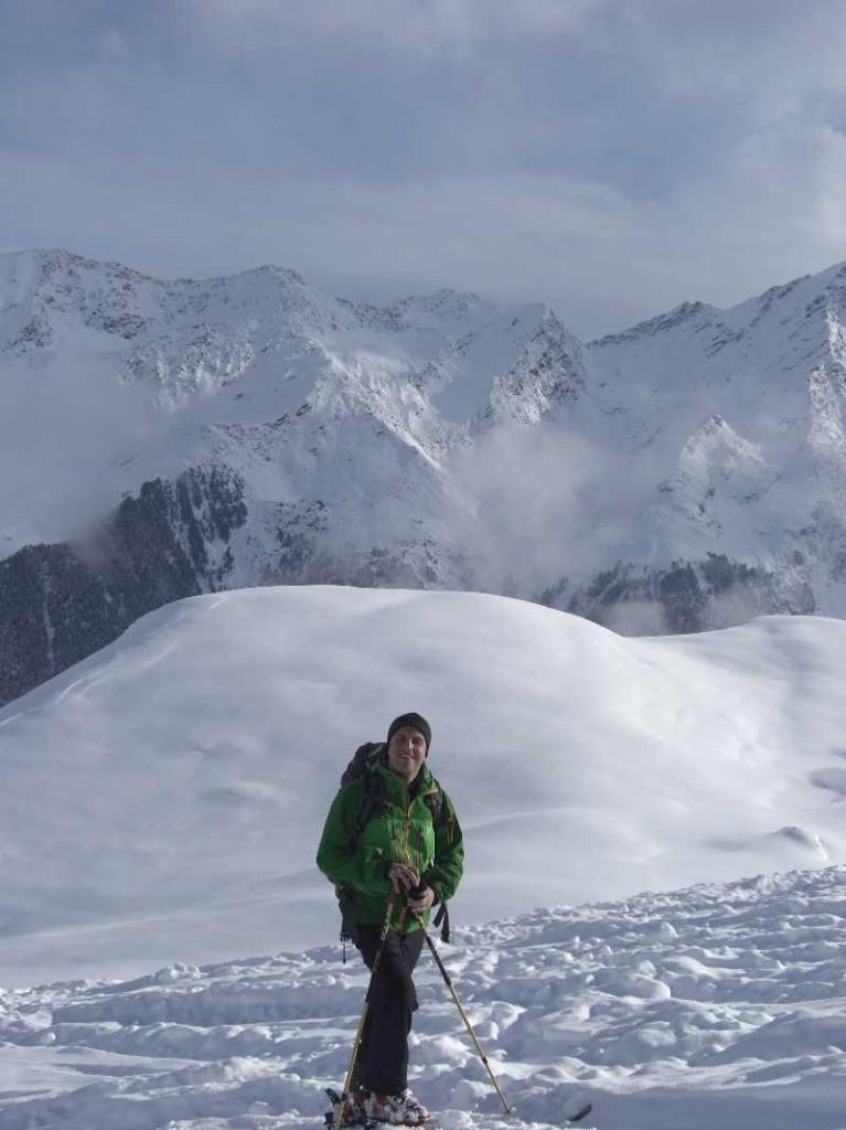 Haglöfs Spitz Jacket bei einer Skitour zur Lampsenspitze