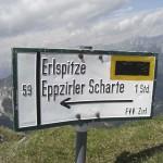 Wegzeiger Zirler Klettersteig