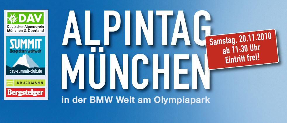 1. Münchner Alpintag des DAV in der BMW Welt am 20.11.2010