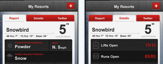 The North Face – iPhone App mit dem aktuellen Schneereport