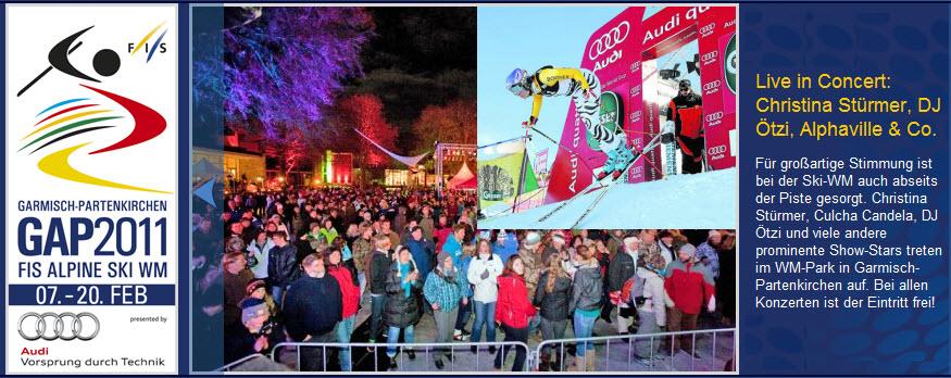 Alpine Ski Weltmeisterschaft in Garmisch vom 07. – 20. Februar 2011