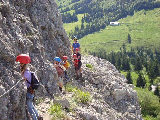 Klettersteig Kinder : Salewa klettersteig familientage juni in
