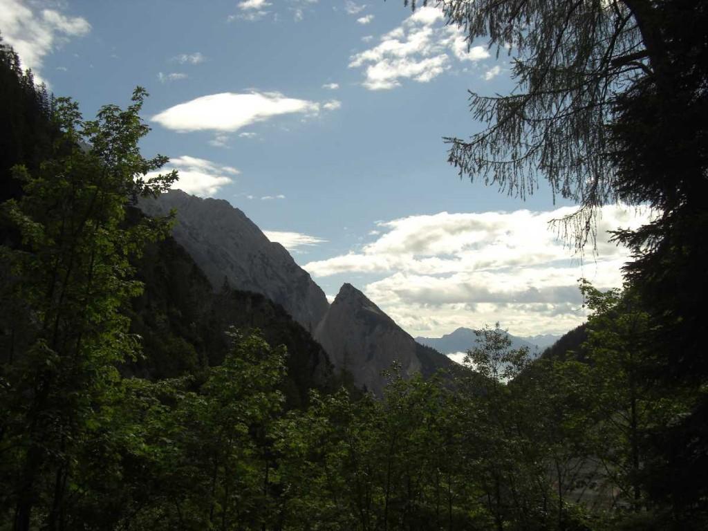 Blick zur Wechselspitze, Halltal