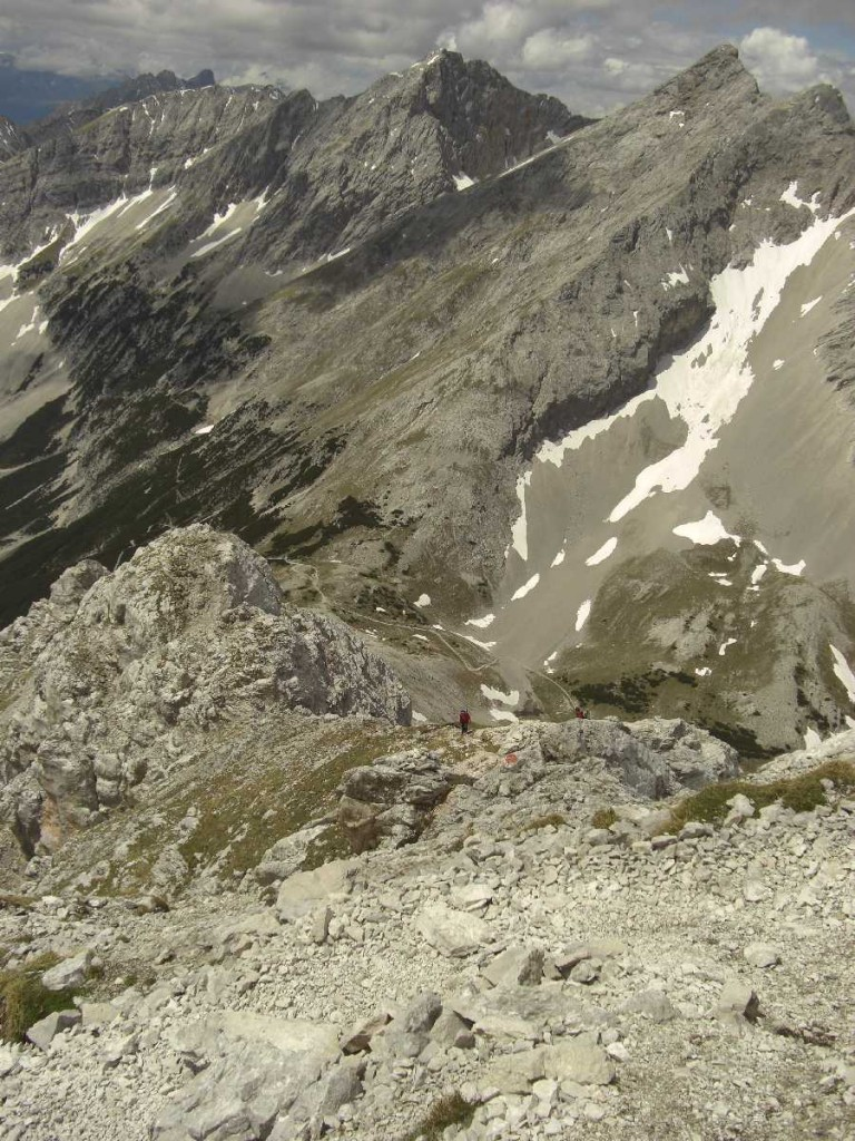 Anstieg Speckkarspitze, Westgrat