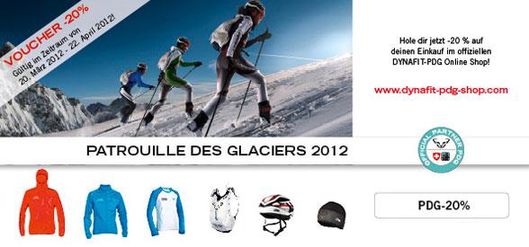 """20 % Rabatt auf die """"Patrouille des Glaciers"""" Renn-Kollektion exklusiv im PDG Online Shop!"""
