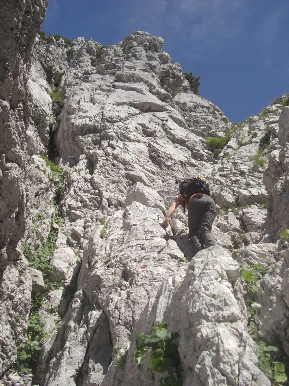 steile Pfad am Tuxeck