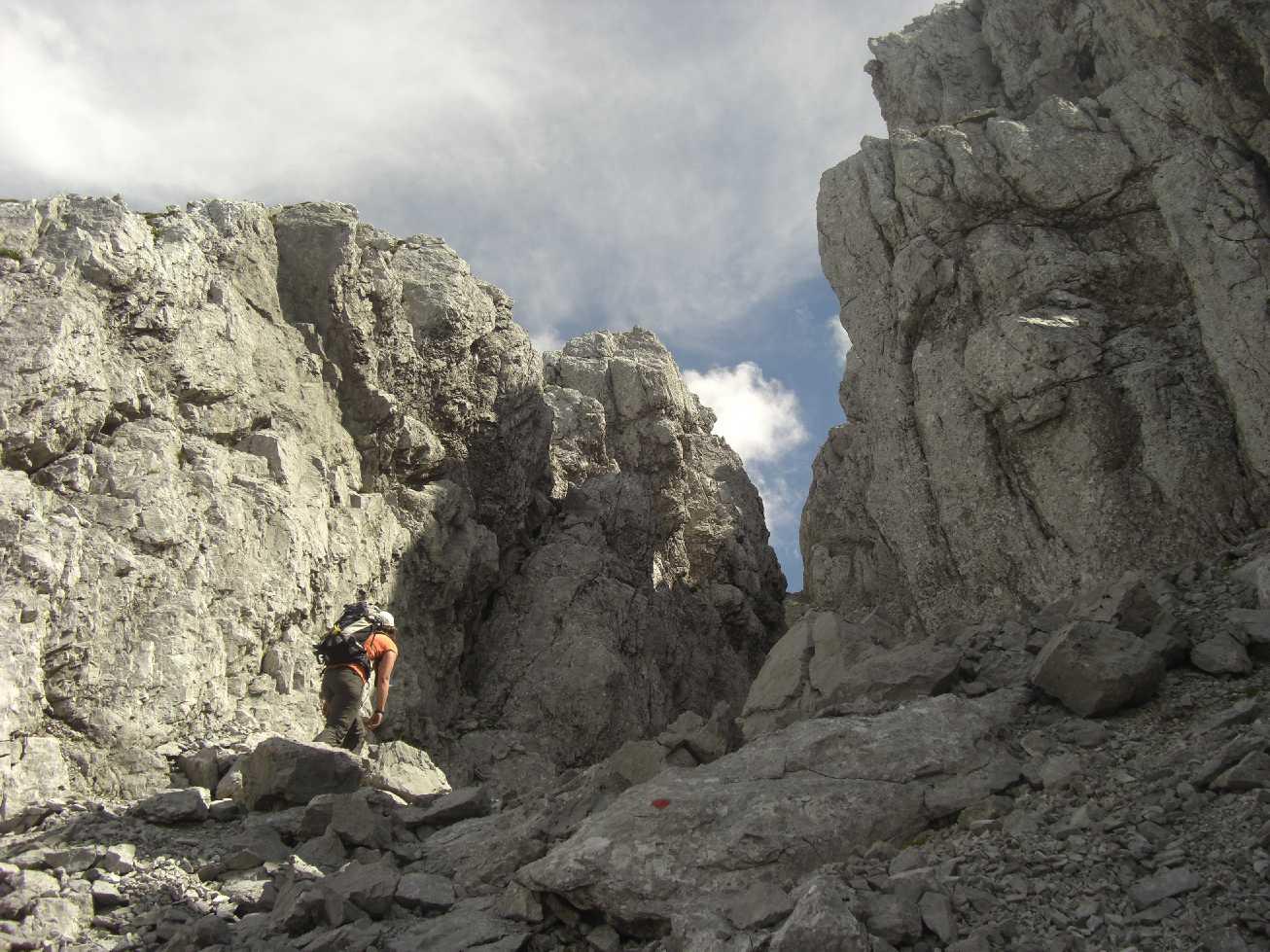 Bergtour (ungesicherter Steig) im Wilden Kaiser: Treffauer, Tuxeck