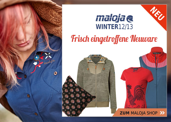 Maloja Shop bei Bergzeit – Neue Maloja Artikel Winter 2012