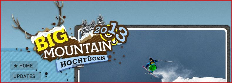 Freeride Worlds Tour: Big Mountain in Hochfügen am 9.02.2013