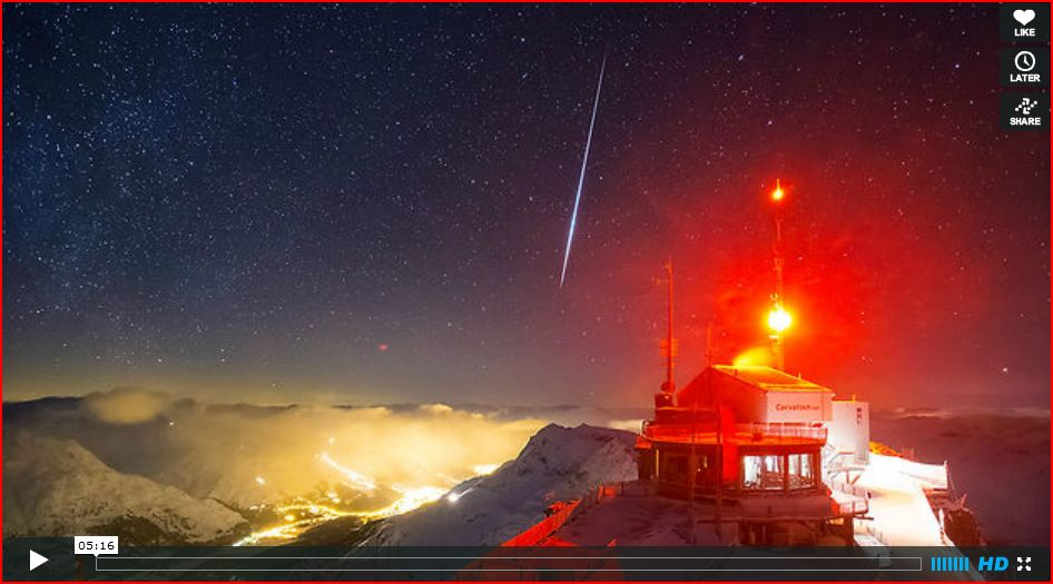 One Day on Earth: Cold Engadin Time Lapse Night
