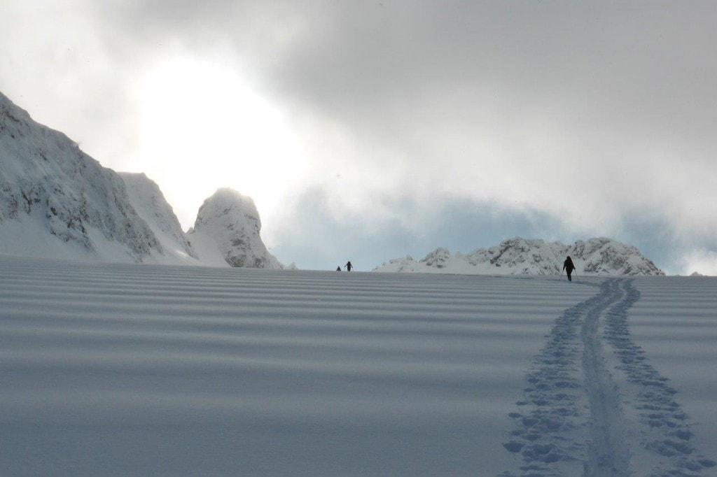 weite Gletscherfläche in Lyngen