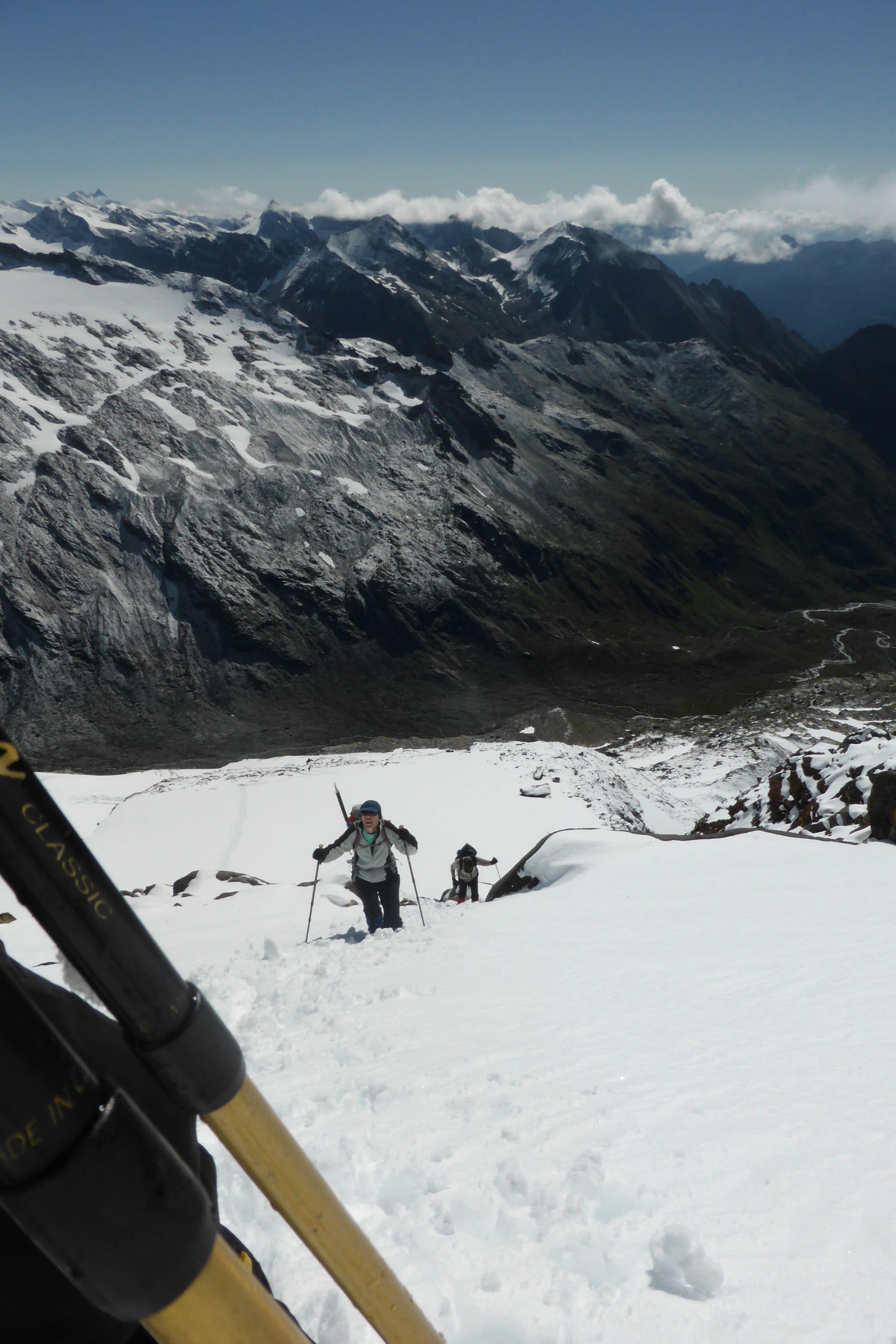 Schneefeld zur Sominyspitze