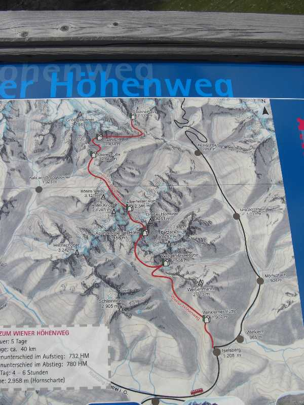 Etappen beim Wiener Höhenweg in der Schober Gruppe (Hohe Tauern)