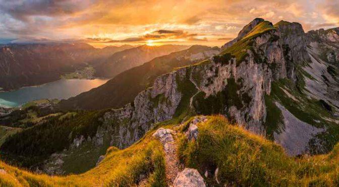 Fünf Gipfel-Klettersteig im Rofan am Achensee (Tirol)