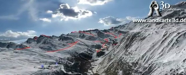 Reality Map 3 D - Skitouren im Ötztal