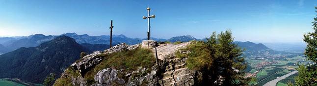 Familienwanderung: Kranzhorn, schöner Aussichtsgipfel im Inntal (Aufstieg von Erl / Tirol).