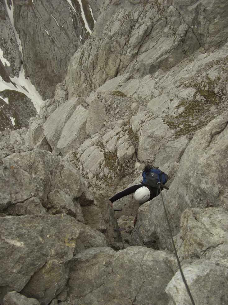Kletterpassage kurz vor dem Gipfel