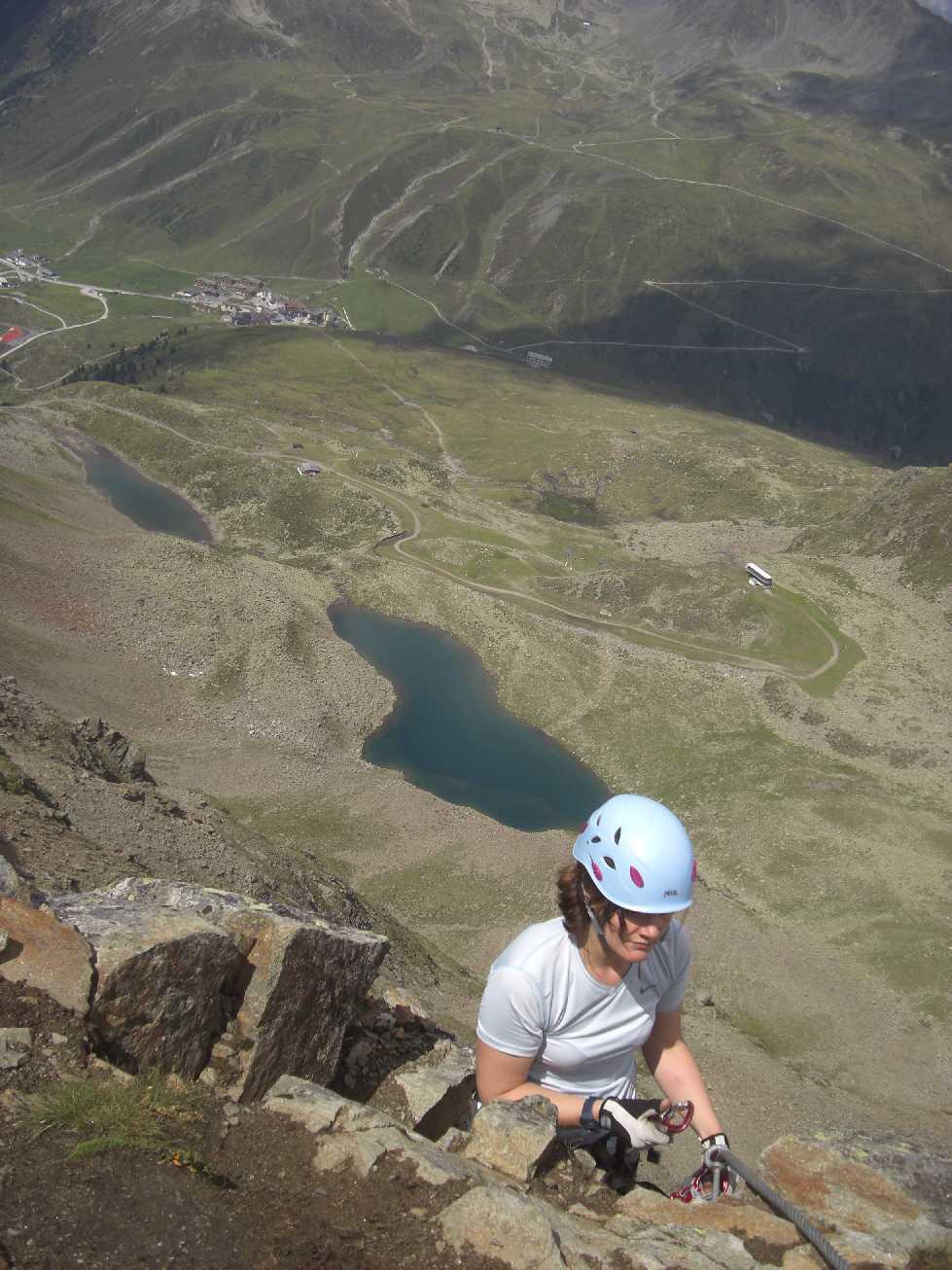 Klettersteig: Pockkogel in Kühtai. Anspruchsvoller Klettersteig (D-E)