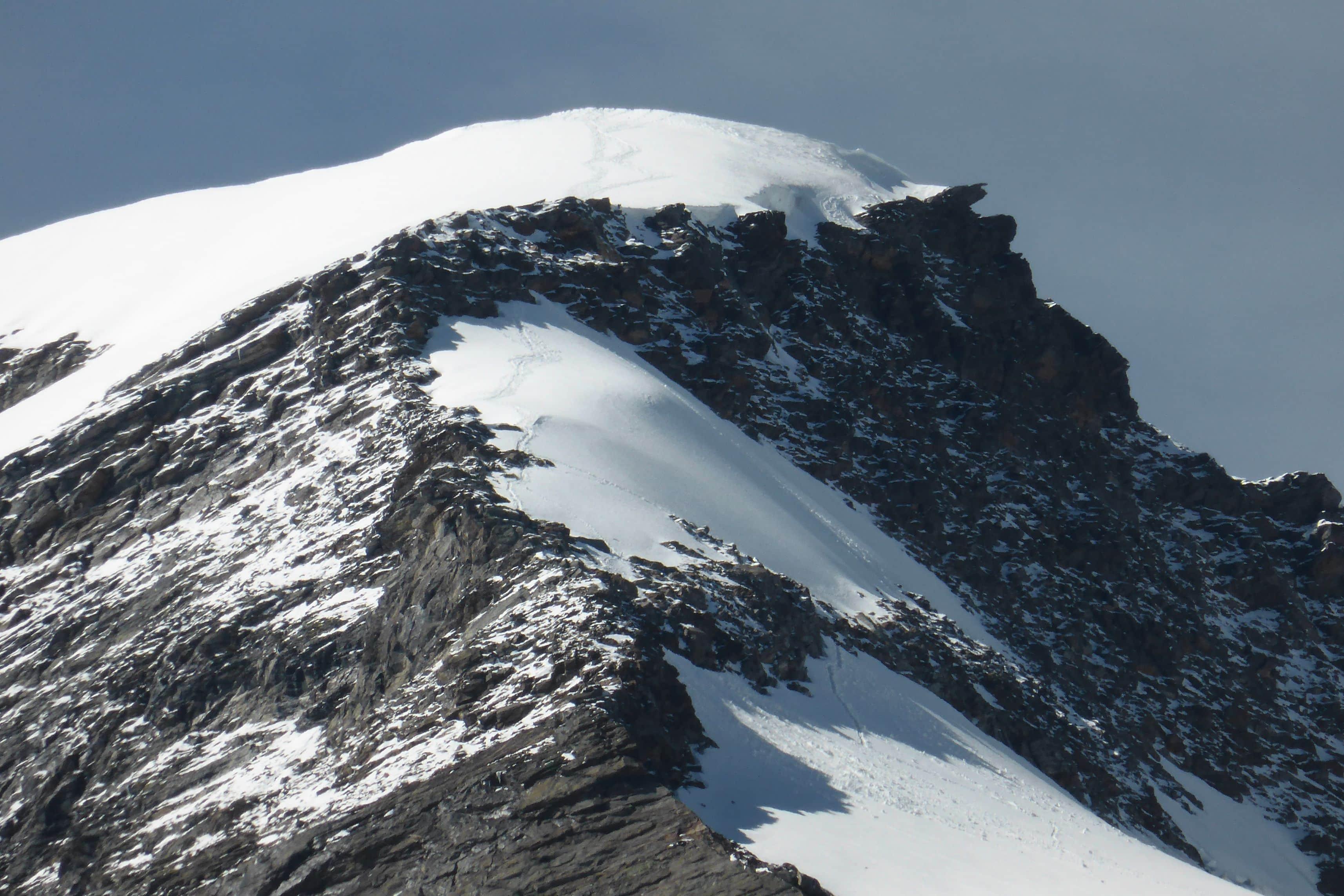 Aufstieg Felsriegel Simonyspitze