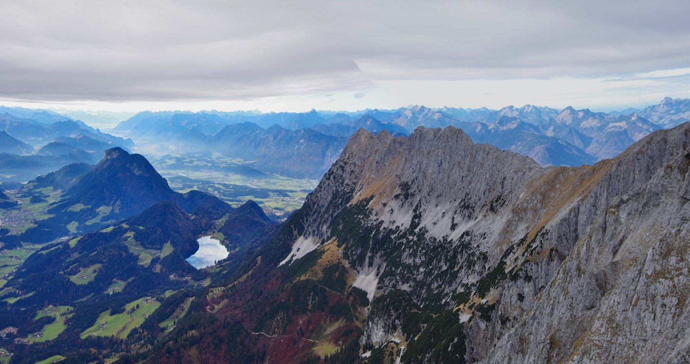 Tuxeck. Wilder Kaiser. Hintersteiner See, Treffauer